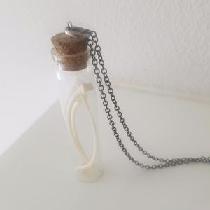 Open The Cellar Door Snake Rib-Bones Vial Necklace